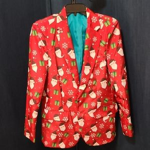 Suitmeister Red Santa Ugly Christmas Suit Jacket S